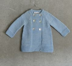 Abrigo largo de lana en punto liso | Nottocbaby