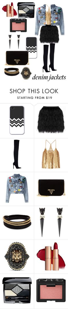 """""""Denim Night Out!"""" by audi-auds ❤ liked on Polyvore featuring Raoul, Zara, TIBI, Alice + Olivia, Prada, Vita Fede, Alexis Bittar, Gucci, Christian Dior and NARS Cosmetics"""