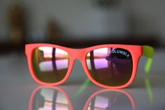 Classic Tortoise Sunglasses Neon Orange/ Rubber/ Lemon/ Lime/ Iridescent Lenses