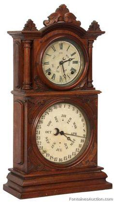 Ingraham Double Dial Calendar Clock – LOT 146 Estimate: $800 – $1200 Ingraham…