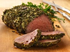 Tried this herb rub on a rib roast for Christmas dinner... worked great!  I'd suggest mixing the herbs and the mustard together to prevent excessive drying (if you have a big roast).