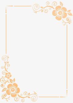 Desenho simples de flor, Amarelo, Moldura, Flores PNG e PSD