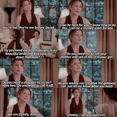 Meredith and Amelia. Grey's Anatomy... what do you need? >'I'll be your person