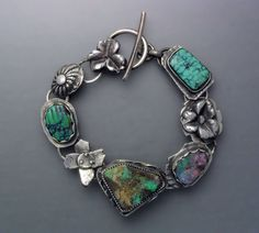 Boulder Opal and Turquoise Bracelet by Temi on Etsy, $260.00