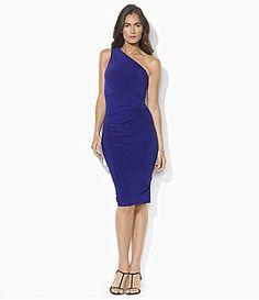 Lauren Ralph Lauren OneShoulder Matte Jersey Dress #Dillards