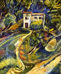 ۩۩ Painting the Town ۩۩ city, town, village & house art - Henri Le Sidaner - House in the Woods Chaim Soutine - circa 1918  o