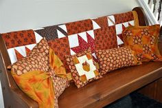 Fall quilted pillows