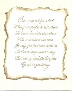 Sympathy cards verses for sympathy cards that express your deepest example of inside simple sympathy card m4hsunfo