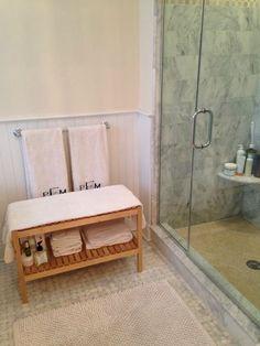 How a Cute Ikea Bathroom Bench Cured My Dry Skin