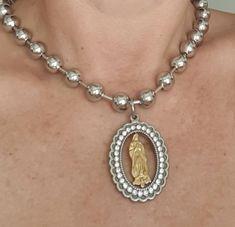 Catholic Jewelry, Catholic Gifts, Handmade Jewelry, Handmade Items, Unique Jewelry, Handmade Gifts, Fashion Necklace, Fashion Jewelry, Lady Guadalupe