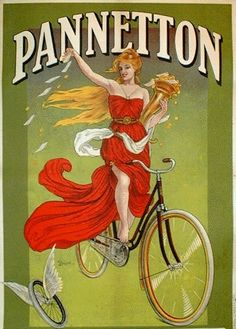 Poster french vintage cycling goddess poster