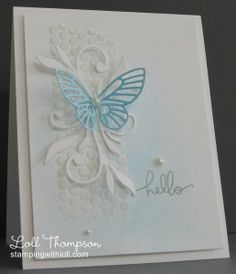 Embossing Paste card by Loll Thompson