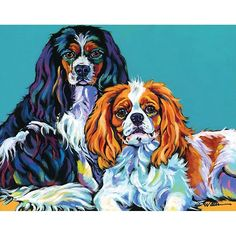 """Bella and Bentley"" Wall Art by Sally Evans: 400069372085 