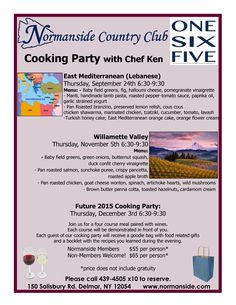 #NCCevents #CookingPartywithChef