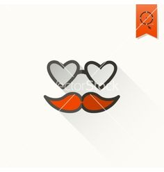 Happy valentines day icon vector hipster glasses by HelenStock on VectorStock®