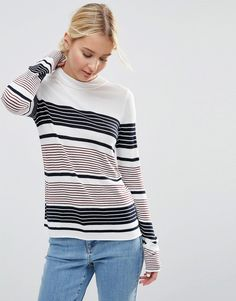 ASOS+Jumper+With+Crew+Neck+In+Stripe+in+Soft+Yarn