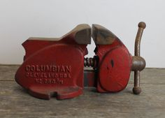 Vintage Red Columbian Pennypincher Workbench Vise 3 1/2 by MyBarn