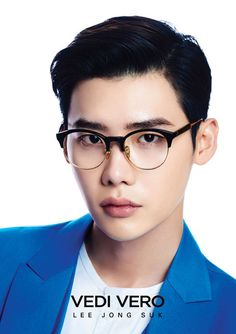 Designer line Vedi Vero has chosen Lee Jong Suk as their muse for the 2016 F/W campaign of eye wear. We're not sure if we prefer him with or without glasses since he looks amazing either way. Lee Jong Suk, Jung Suk, Lee Jung, Kim Woo Bin, Sung Joon, Young Male Model, Doctor Stranger, Def Not, Cute Actors