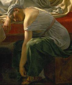 C.W. Eckersberg: En sovende kvinde i antik klædedragt, (1813)