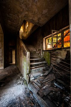 Stairs, Abandoned House, Greece