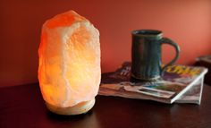 Himalayan Ionic Crystal Natural Salt Lamp (Up to 56% Off). Two Sizes Available. Free Shipping. - Groupon