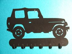 Jeep KEY RACK Hat Coat Hook Leash 4 x 4 Wheeler Orv by artbyjack, $24.99