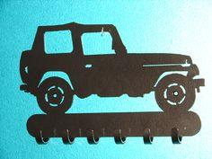 Jeep KEY RACK Hat Coat Hook Leash 4 x 4 Wheeler Orv by artbyjack, $24.99