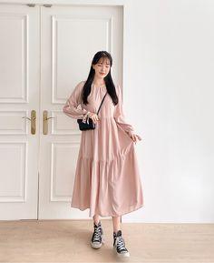 Korean Dress, Korean Style, Korean Fashion, Kawaii, Photoshoot, Sewing, Pink, Outfits, Dresses