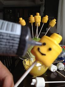 The Chic Crafter: Marsmallow Lego Man Pop