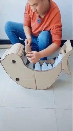 Best 12 Amazing creative DIYs cardboard crafts ideas for your kids Diy Crafts Hacks, Diy Crafts For Gifts, Paper Crafts For Kids, Diy Home Crafts, Diy Arts And Crafts, Diy Crafts Videos, Creative Crafts, Diy For Kids, Fun Crafts