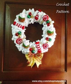 INSTANT DOWNLOAD Christmas Wreath Cupcakes Candies by natyo2010, $5.00