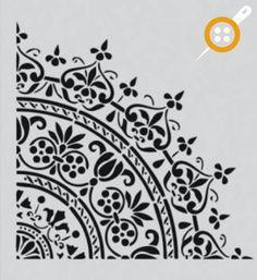 "Moroccan stencils from The Stencil Library. Stencil catalogue quick view page Képtalálat a következőre: ""free moroccan stencils printable"" Rise Hall stencils from The Stencil Library. Buy from our range of Rise Hall stencils online. Mandala Stencils, Stencil Patterns, Stencil Designs, Mandala Art, Flower Stencils, Stencils Online, Free Stencils, Stencil Diy, Stenciling"