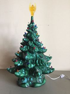 Vintage 1970s Atlantic Mold Ceramic Christmas Tree by post50modern
