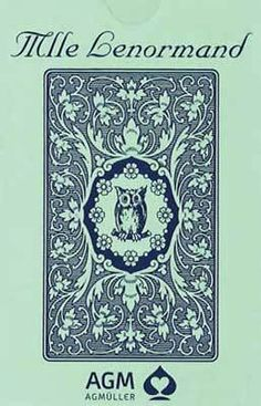 Mlle Lenormand Blue Owl deck is the English language version of the famous fortune-telling deck used by Mlle Lenormand. The 36-card deck is packaged in the traditional tuck box with its original Blue Owl design. The pack includes a small instruction booklet with a brief explanation of each key card and sample readings.