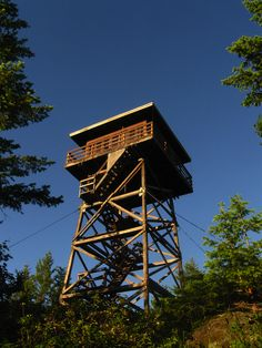 Deer Ridge fire lookout tower, Idaho | photo.... I remember my mom working in a fire tower. Loved climbing those stairs