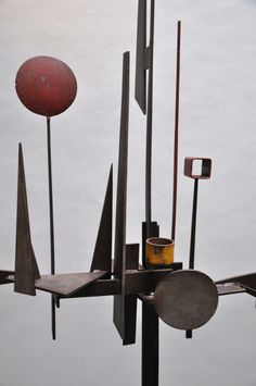 Paul Kasper (American 1922-2011) Large Welded Steel Sculpture 1950s | From a unique collection of antique and modern sculptures at http://www.1stdibs.com/furniture/more-furniture-collectibles/sculptures/