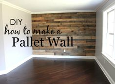 Project Nursery - How to Make a Pallet Wall