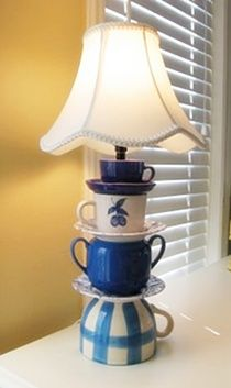 Great use for my mixed matched antique cups!