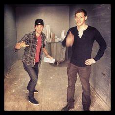 Joseph Morgan & Nathaniel Buzolic