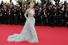 Naomi Watts in a feather Elie Saab dress at Cannes 2015