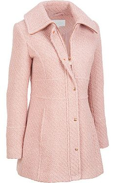 I have this coat and loveeee it! MY Jessica Simpson Braided Wool Coat in pink Warm Outfits, Winter Outfits, Outfits Fo, Hijab Fashion, Fashion Dresses, Hijab Evening Dress, Modele Hijab, Coats For Women, Clothes For Women