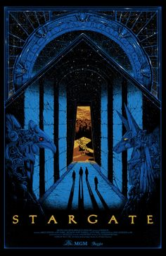 Sale info for Stargate by Kilian Eng On Wednesday December we're releasing a brand new officially licensed screenprint movie poster, showcasing artwork by Kilian Eng. For some time now we wanted to work on a screenprint with Kilian and Stargate was d Best Movie Posters, Cinema Posters, Movie Poster Art, Fantasy Movies, Sci Fi Fantasy, Skyfall, Stargate Movie, Stargate Ships, Kilian Eng