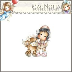 Magnolia Rubber Stamp - AY14 Tilda with Nestor the Bull