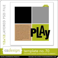 Cathy Zielske's Layered Template No. 070 - Digital Scrapbooking Templates