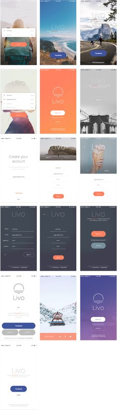 Livo UI Kit: Mobile UI Kit for Photoshop CC 2015 and Sketch