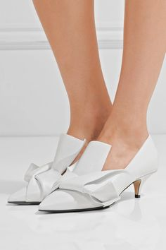 No. 21 - Knotted Leather Pumps - White - IT36.5