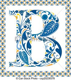 Vector - Blue letter B - stock illustration, royalty free illustrations, stock clip art icon, stock clipart icons, logo, line art, EPS picture, pictures, graphic, graphics, drawing, drawings, vector image, artwork, EPS vector art