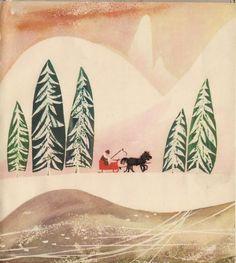 Zdzisław Witwicki's illustration for Stefania Suzchowa's book I'm Surprised By The World, 1996