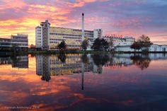 Van Nelle Fabriek bij zonsondergang: sprookjesachtig !