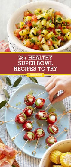 These Super Bowl Snacks Are Full of Flavor, Not Calories - - These Super Bowl S. - These Super Bowl Snacks Are Full of Flavor, Not Calories – – These Super Bowl Snacks Are Full - Healthy Superbowl Snacks, Healthy Appetizers, Appetizer Recipes, Party Recipes, Healthy Recipes, Quick Snacks, Vegan Snacks, Super Bowl Appetizers, Party Snacks